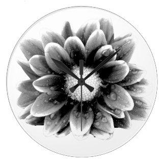 Sad Flower Large Clock