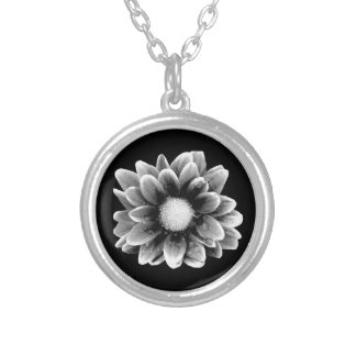 Sad Flower Silver Plated Necklace
