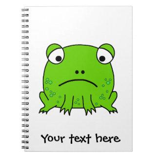Sad Frog Spiral Note Book