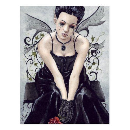 Sad Gothic Victorian Fairy Postcard