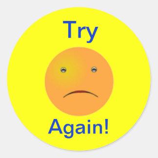 Sad Happy Face Book Sticker