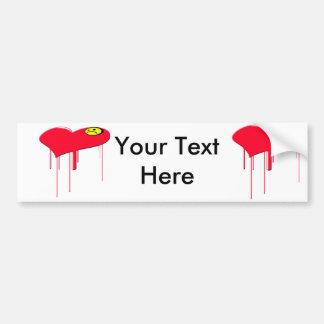 Sad Heart and Sad Face Bumper Sticker