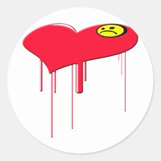 Sad Heart and Sad Face Sticker