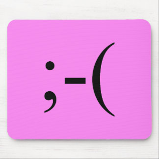 Sad Hot Pink Emoji by Janz Mouse Pad