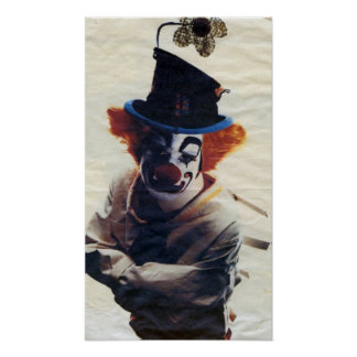 sad little clown print