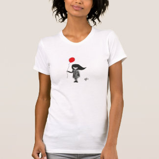 Sad little girl with red balloon T-Shirt