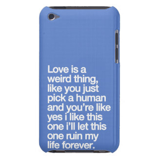 Sad love quote iPod touch Case-Mate case