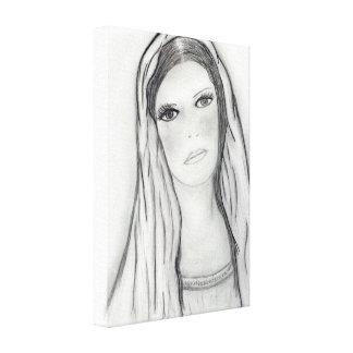 Sad Mary Canvas Print