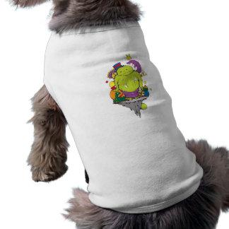 sad monster and friends vector cartoon art sleeveless dog shirt