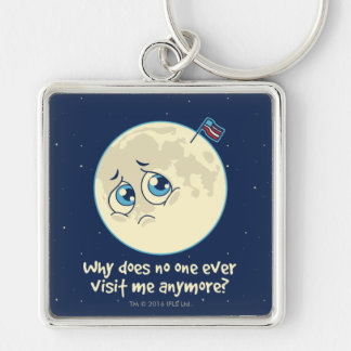 Sad Moon Key Ring