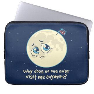 Sad Moon Laptop Sleeve