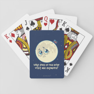 Sad Moon Playing Cards