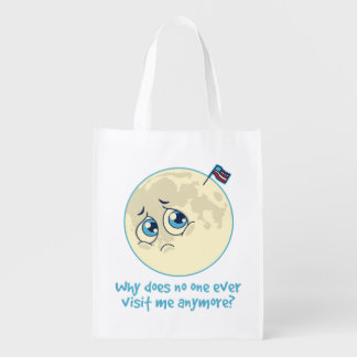 Sad Moon Reusable Grocery Bag