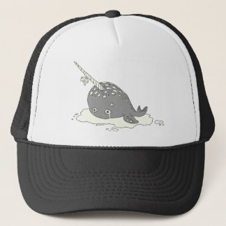 Sad Narwhal Trucker Hat