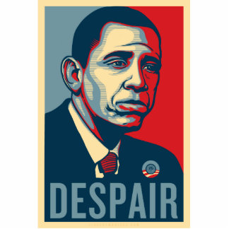 Sad Obama Pin Photo Sculpture Badge