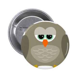 Sad owl 6 cm round badge