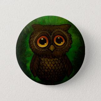 Sad owl eyes 6 cm round badge