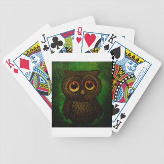 Sad owl eyes bicycle playing cards