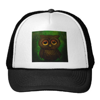 Sad owl eyes cap