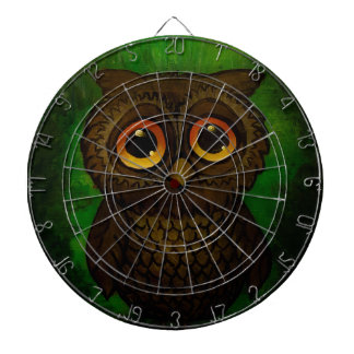 Sad owl eyes dartboard