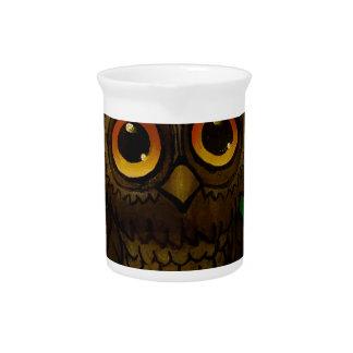Sad owl eyes pitcher