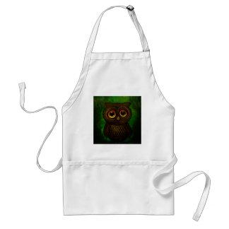 Sad owl eyes standard apron