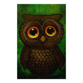 Sad owl eyes stationery