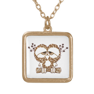 Sad Owl Gold Plated Necklace