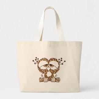 Sad Owl Large Tote Bag