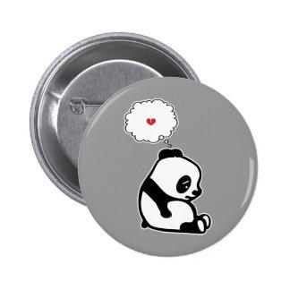 Sad Panda 6 Cm Round Badge