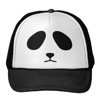 Sad panda face cap