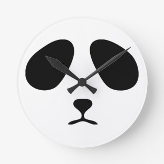 Sad panda face wall clock