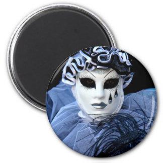 Sad Pierrot 6 Cm Round Magnet