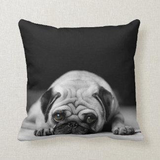 Sad Pug Throw Cushion