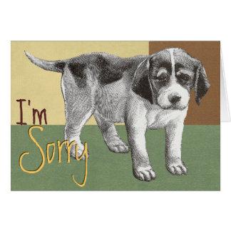 "Sad Puppy ""I'm Sorry"" Card"