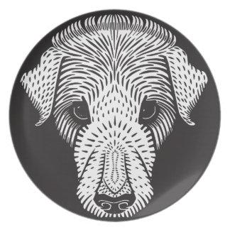 sad puppy plate