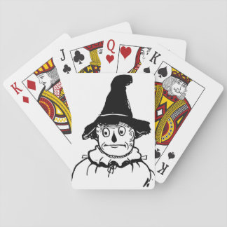 Sad Scarecrow Wizard of Oz Vintage Illustration Playing Cards