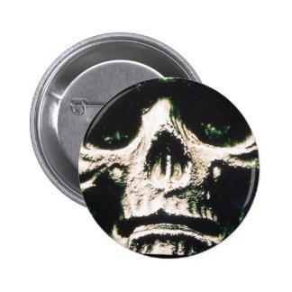 Sad Skull 6 Cm Round Badge