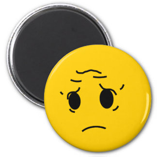 sad smiley magnet