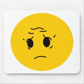 sad smiley mouse pad