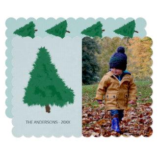 Sad Spruce Tree Hand Drawn Minimal Photo Template