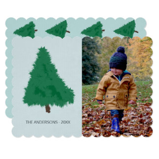 Sad Spruce Tree Hand Drawn Minimal Photo Template Card