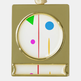 Sad Surfboard Gold Plated Banner Ornament
