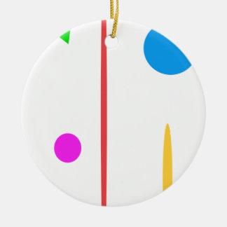 Sad Surfboard Round Ceramic Decoration