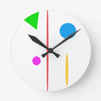 Sad Surfboard Round Clock