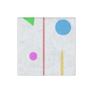 Sad Surfboard Stone Magnet