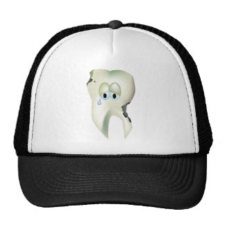 Sad Tooth Cavity Cartoon Funny Dentist Cap
