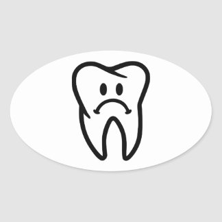 Sad tooth face stickers
