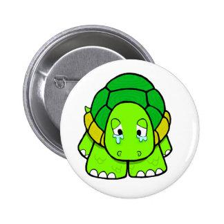 Sad tortoise 6 cm round badge