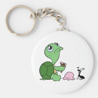 Sad Turtle Happy Ant Key Chains